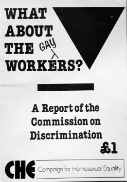 'What About The Gay Workers?', booklet published by CHE, early 1980s