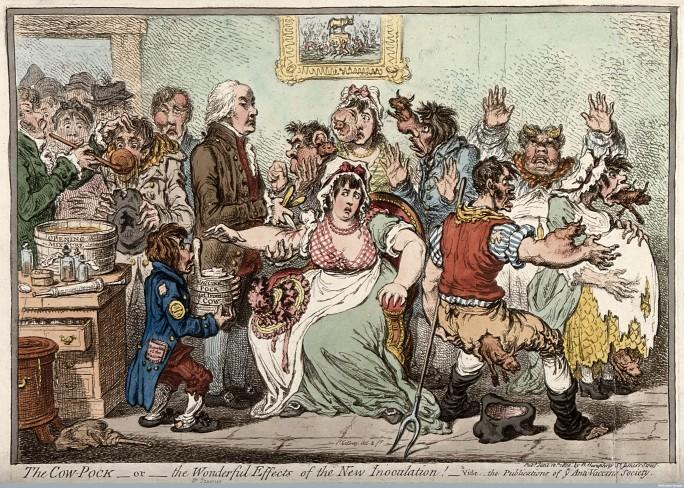 John Gillray, 'The Cow-Pock', 1802. Welcome Library, London
