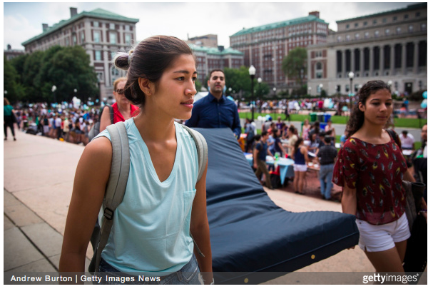 Columbia Student Emma Sulkowitcz Carries Mattress Around Campus Until Her Alleged Rapist Is Expelled