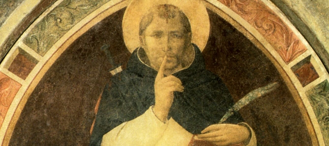 St Peter the Martyr Enjoins Silence, by Fra Angelico (Florence, San Marco Convent)